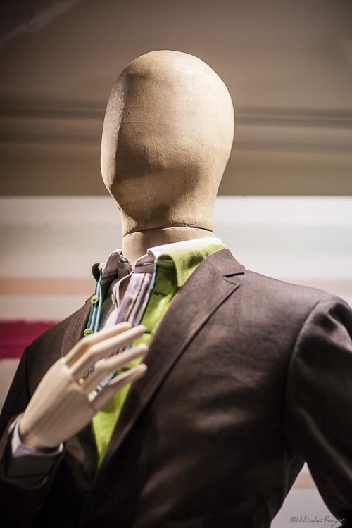 Mannequin dans une vitrine à Bruxelles