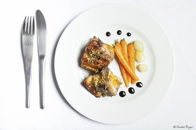 Photographie culinaire de veau