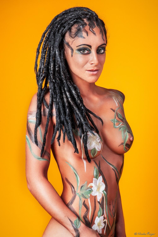 Photographie artistique de mode avec Bodypainting