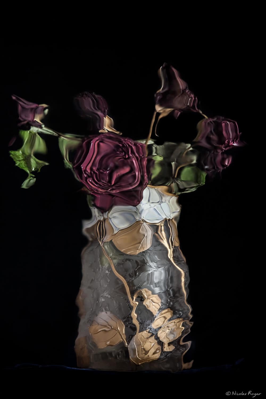 «Cabinet des réflexions» Nature morte au vase de fleurs