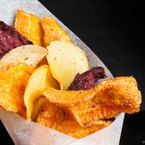 Photographie de chips de légumes