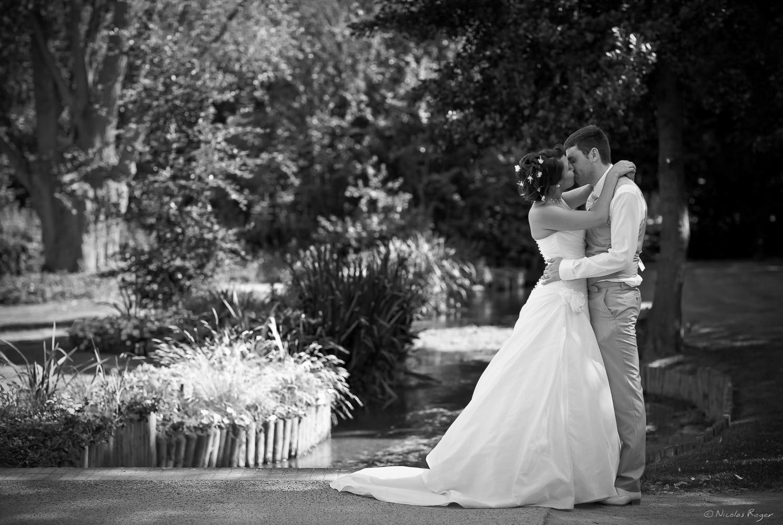 Photographie de mariage au parc de Cébazat