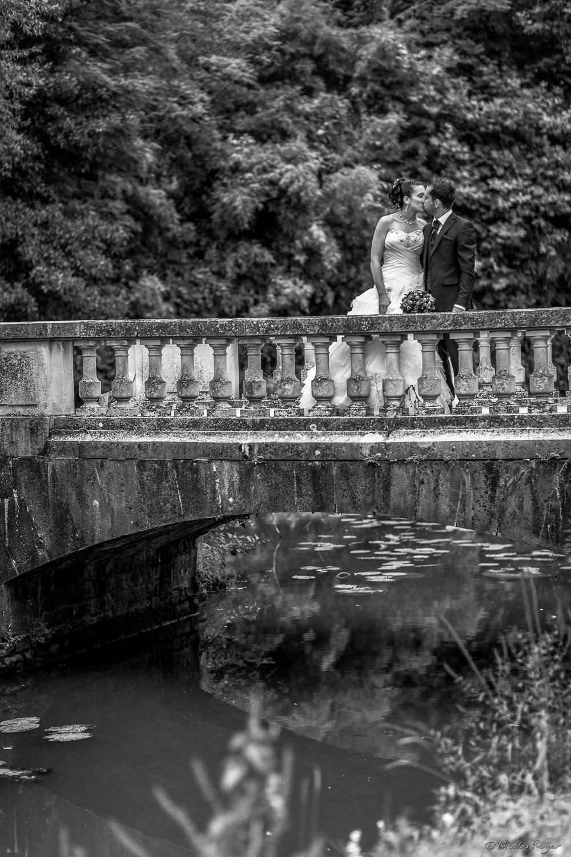 Photographie de mariage sur le pont