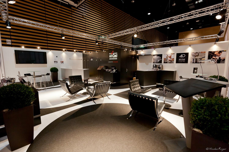 Photographie d'aménagement des stands sur les salons professionnels