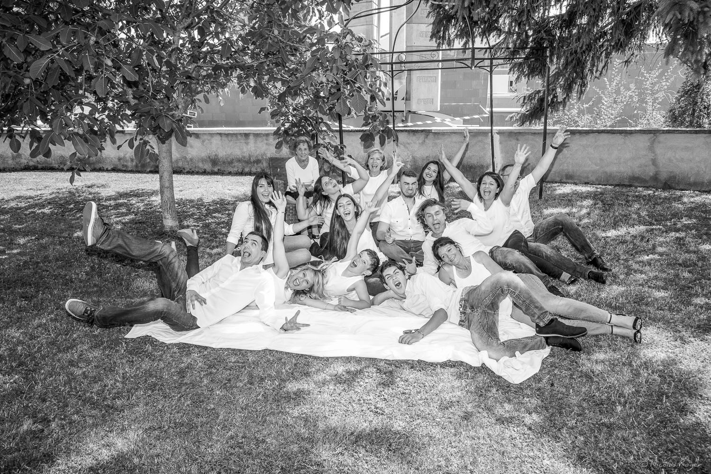 Photographie de groupe d'une famille