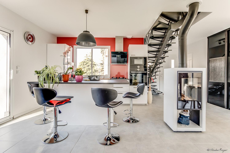 Photographie d'architecte d'intérieur dans une villa.