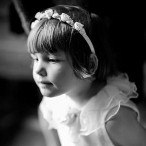 Portrait de fillette durant le mariage