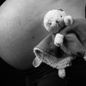 Photographie du fur doudou du bébé