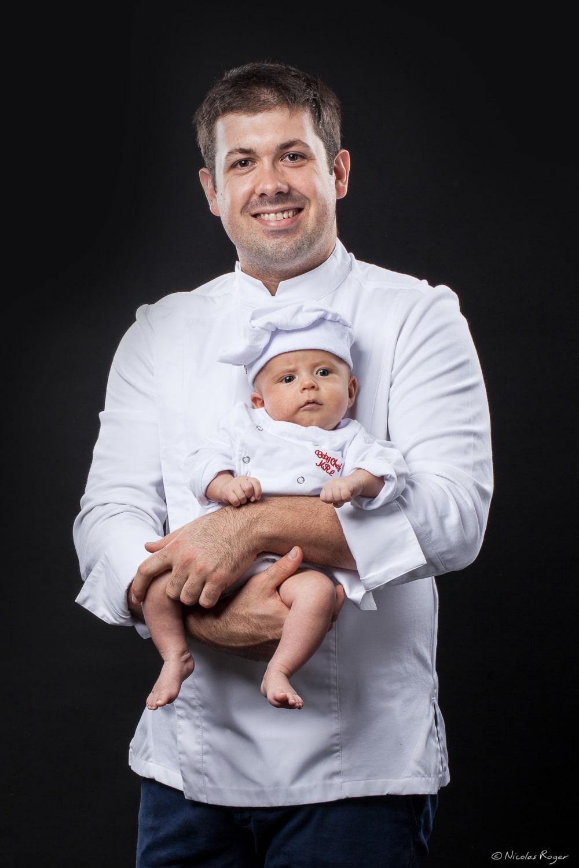 photographie cuisinier père enfant puy-de-dôme