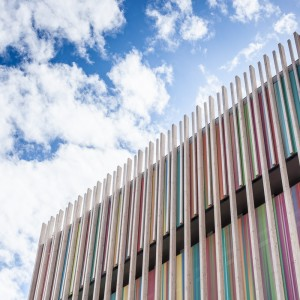 Photographie d'un détail de la cité internationale de la tapisserie
