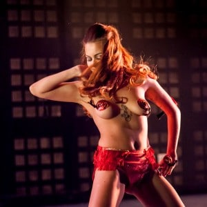 Photographie de spectacle burlesque en Auvergne