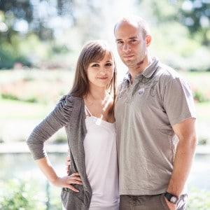Photographie de couple en Auvergne.