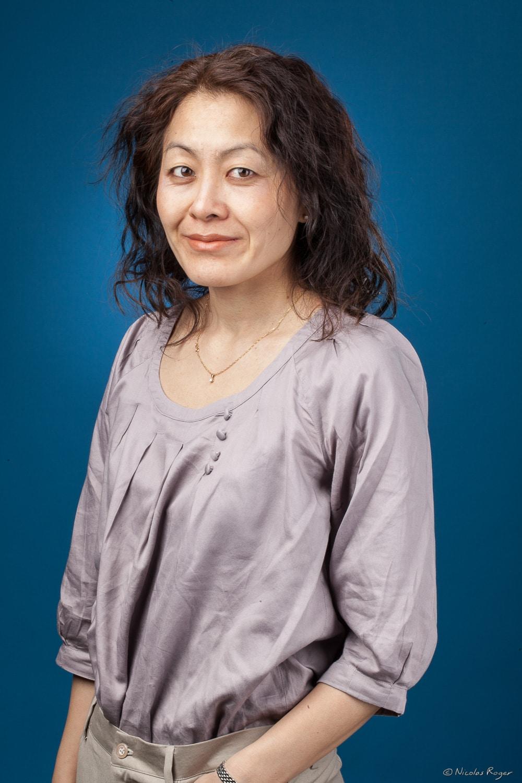 Portrait professionnel d'une femme en Auvergne.