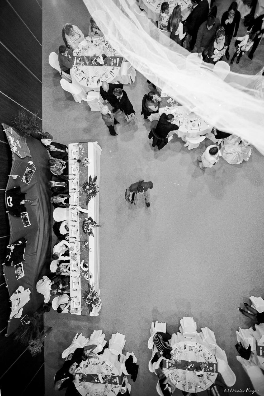 Photographie «aérienne» du repas de mariage