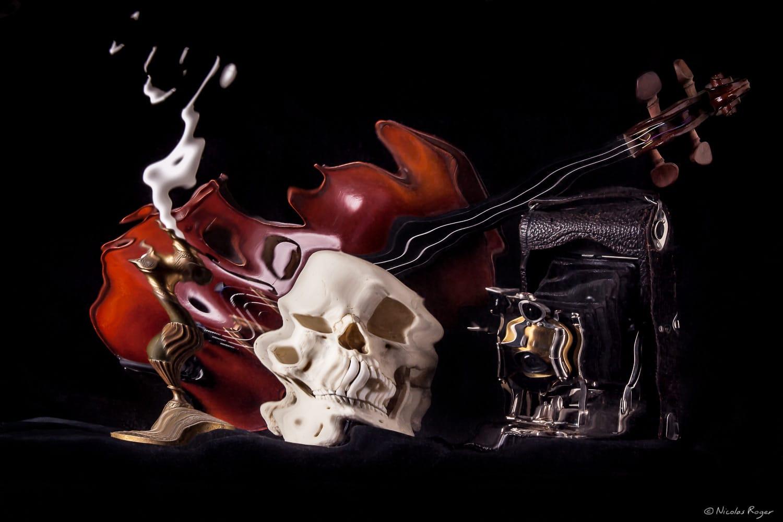 «Cabinet des réflexions» Vanité de Nicolas Roger