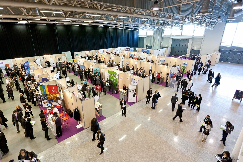 Photographie au forum des entreprises de l'ESC de Clermont-Ferrand