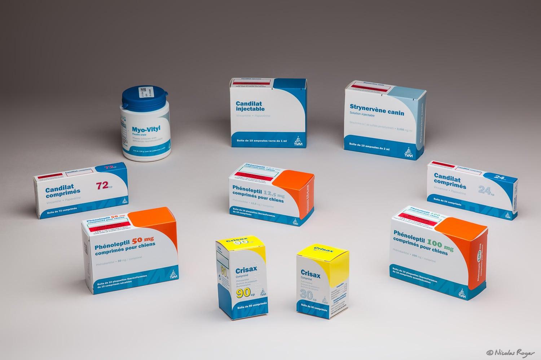 Photographie d'une gamme pharmaceutique