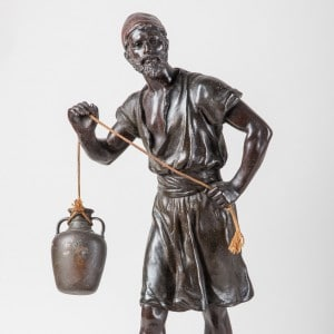 Photographie de sculpture en bronze