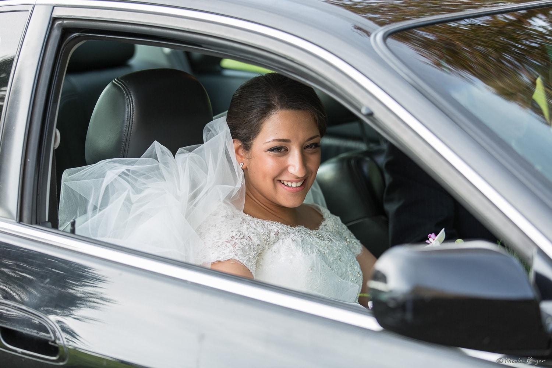Photographie de la voiture de la mariée