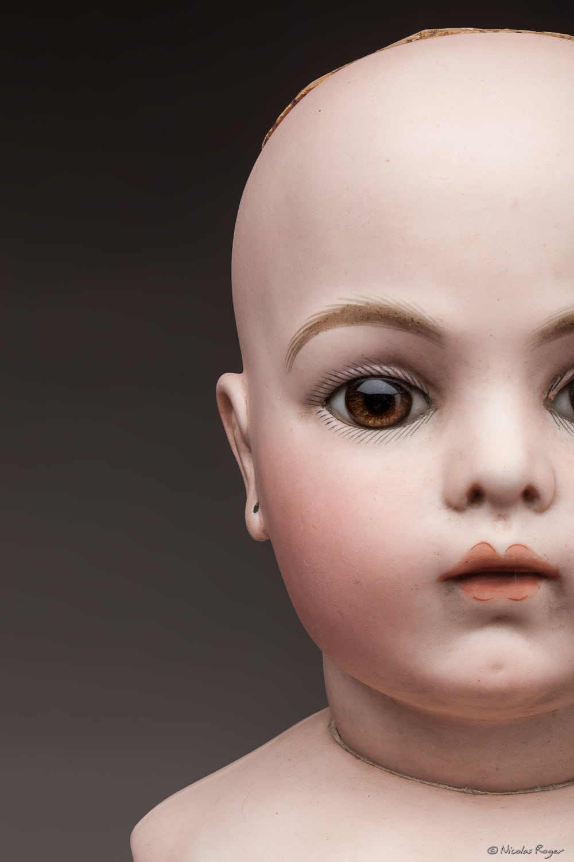 Tête de poupée ancienne