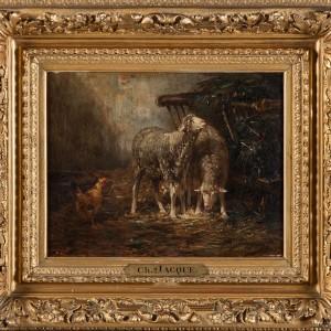 Photographie d'un tableau de Charles Jacques