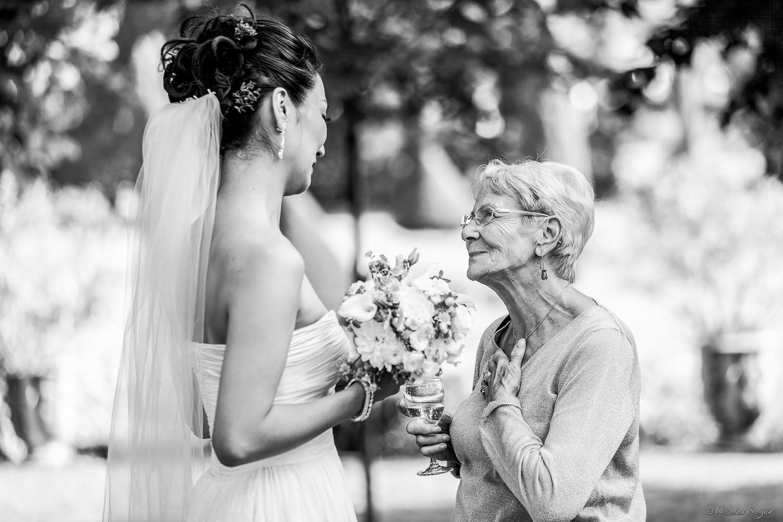 Discussion avec la mariée