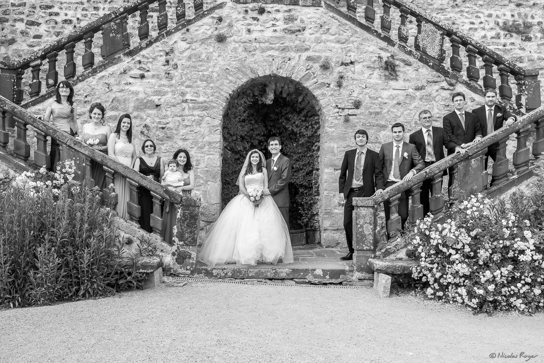 Photographie sur les marches du château