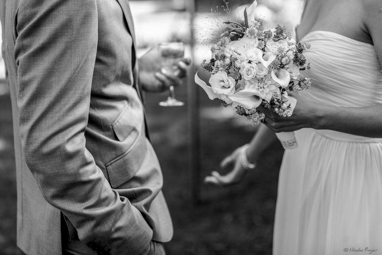 La mariée discute