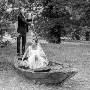 Les mariés en bateau
