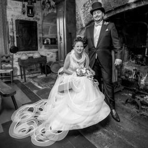 Les mariés dans un buron