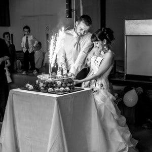 Les mariés et le dessert
