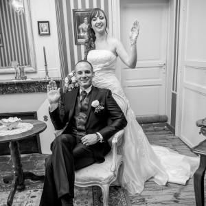 Un salut des mariés