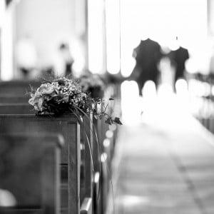 L'église et le bouquet