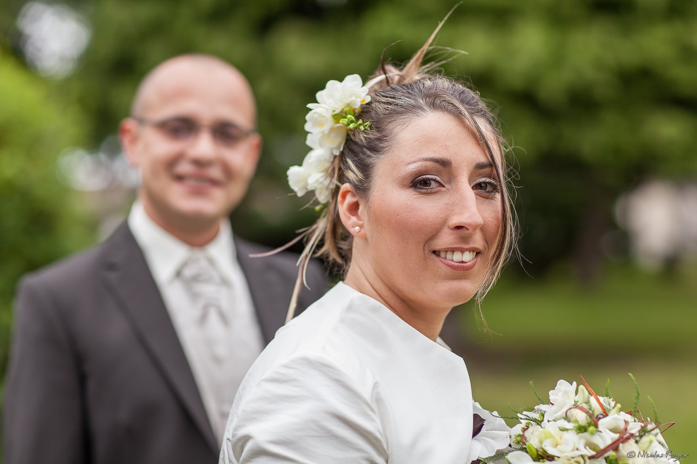 Sourire de la mariée