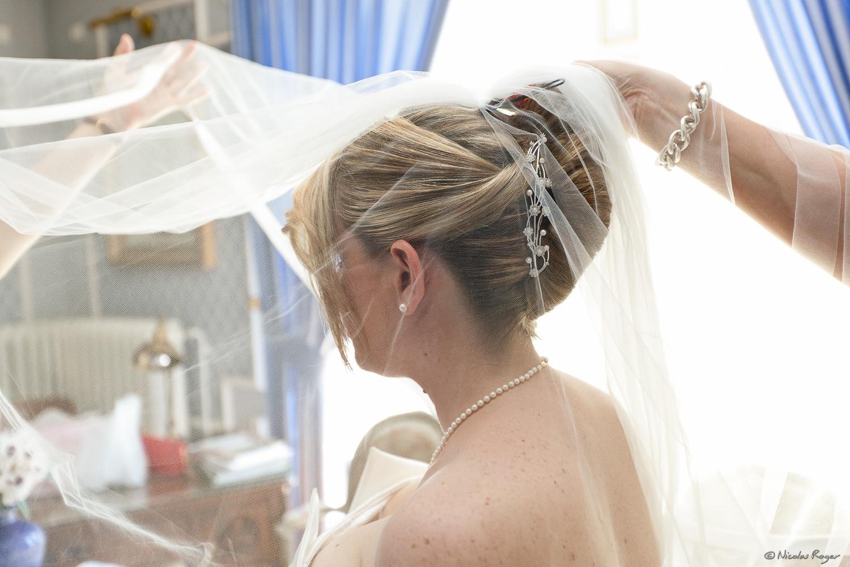 Préparation de la mariée : le voile