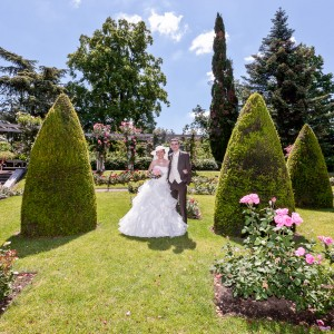 Photographie des mariés au Jardin Lecoq