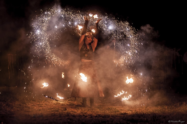 Photographie de spectacle de feu et artifices